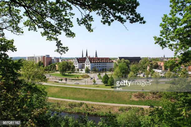 zwickau skyline (saxony, germany) - zwickau stock pictures, royalty-free photos & images