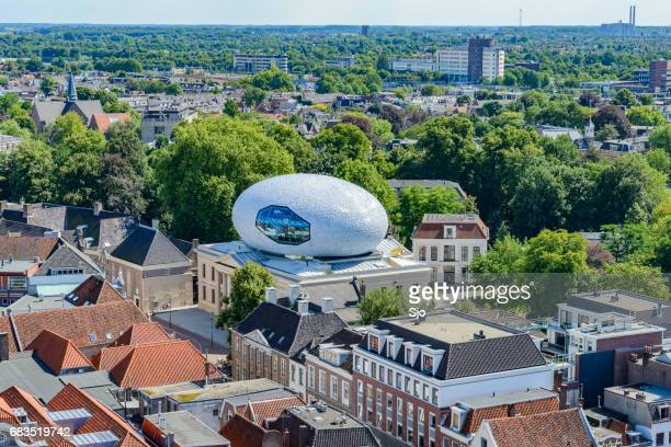 zwolle city centre during summer from above - zwolle stock photos and pictures