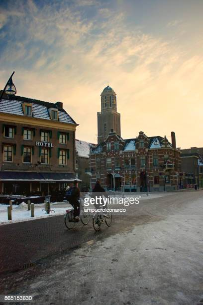 zwolle downtown, netherlands - zwolle stock photos and pictures