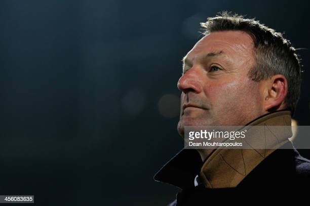 Zwolle Manager / Head Coach Ron Jans looks on prior to the Eredivisie match between PEC Zwolle and SC Heerenveen held at IJsseldelta Stadion on...