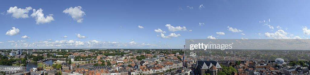 Zwolle Panorama : Stock Photo