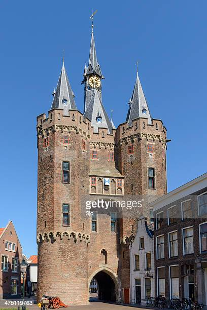 zwolle - sassenpoort - zwolle stock photos and pictures