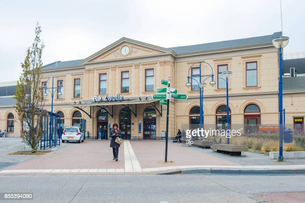 zwolle train station building in overijssel the netherlands - zwolle stock photos and pictures