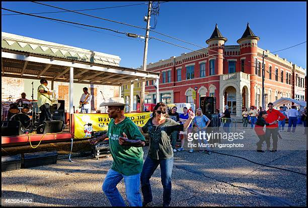 Zydeco band is photographed for Le Figaro Magazine on October 31, 2013 in Magdalen Square in Abbeville, Louisiana. PUBLISHED IMAGE. CREDIT MUST READ:...