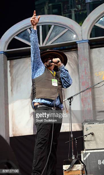 Zydeco musician Terrance Simien performs onstage during New Orleans Jazz & Heritage Festival at Fair Grounds Race Course on May 1, 2016 in New...