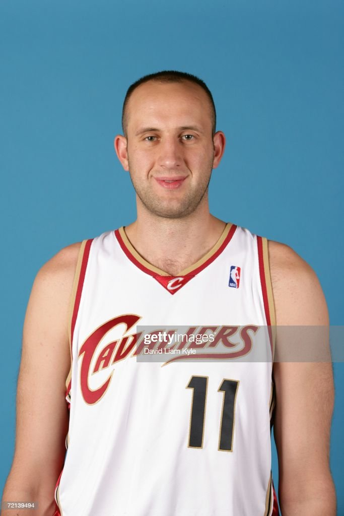 Zydrunas Ilgauskas #11 of the Cleveland Cavaliers poses during NBA Media Day on October 2, 2006 in Cleveland, Ohio.