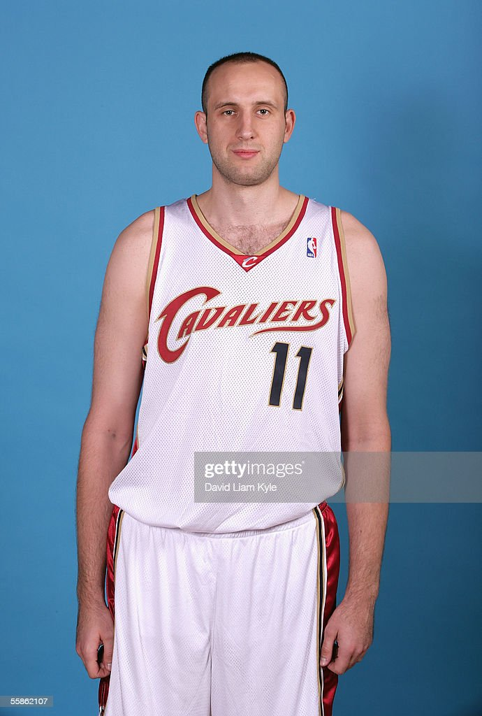 Zydrunas Ilgauskas #11 of the Cleveland Cavaliers poses for a head shot during Cavs media day at Gund Arena on October 3, 2005 in Cleveland, Ohio.
