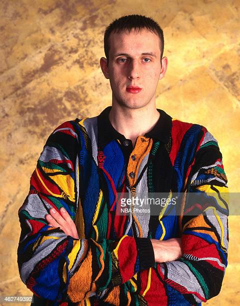 Zydrunas Ilgauskas of the Cleveland Cavaliers poses for a portrait during NBA AllStar Weekend on February 6 1998 in New York City NOTE TO USER User...
