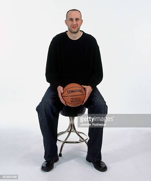 Zydrunas Ilgauskas poses for a photo during the 2005 NBA AllStar Media Availability portrait session on February 18 2005 at The Westin Hotel in Dever...