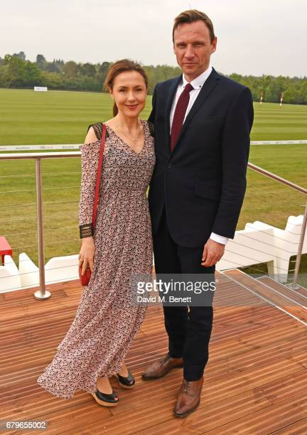 Zygi Kamasa and Eugenie Kamasa attend the Audi Polo Challenge at Coworth Park on May 6 2017 in Ascot United Kingdom