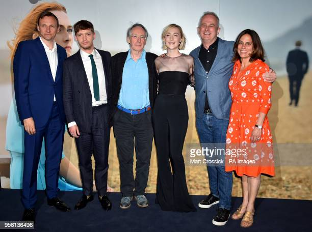 Zygi Kamasa Billy Howle Ian McEwan Saoirse Ronan Dominic Cooke and Elizabeth Karlsen attending a special screening of On Chesil Beach at the Curzon...