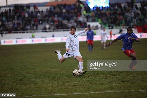 Zymer Bytyqi who plays for Sandnes Ulf playing on the Kosovo National team which played their first FIFA sanctioned match a friendly game against...