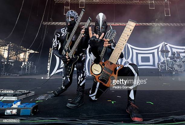 Zymon and Valdjiu of Blasted Mechanism performs on Day 2 of the NOS Alive Festival on July 10 2015 in Lisbon Portugal