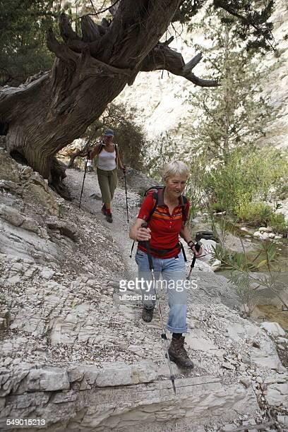 Zypern Frauen beim wandern in der Avakas Schlucht