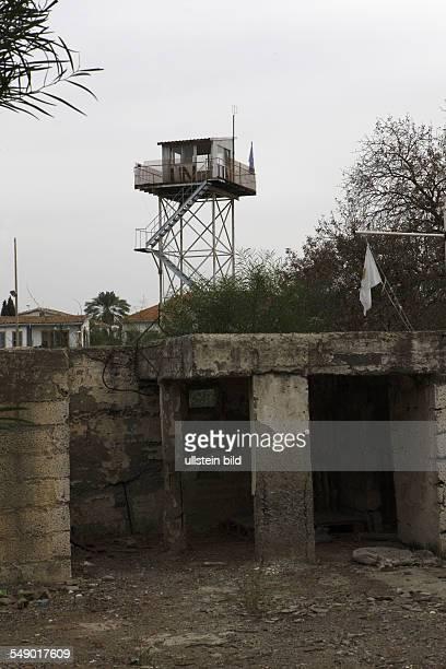 Zypern, Nikosia, Grenzanlagen in der weltweit noch einzigen geteilten Stadt