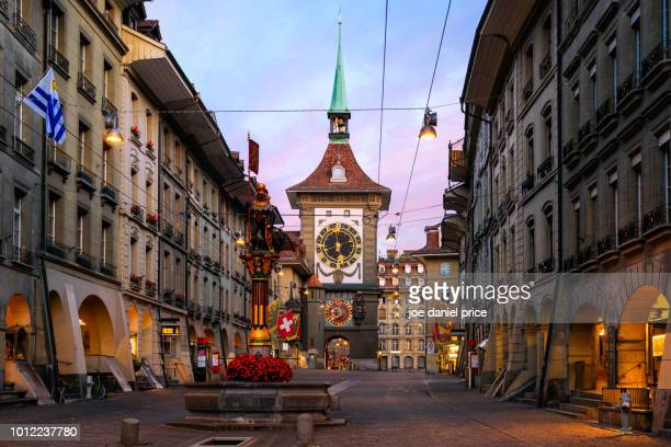 zytglogge, astronomical clock, altstadt (old town), bern, switzerland - ベルン ストックフォトと画像