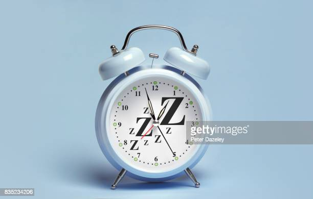 BLUE ALARM CLOCK WITH ZZzzs