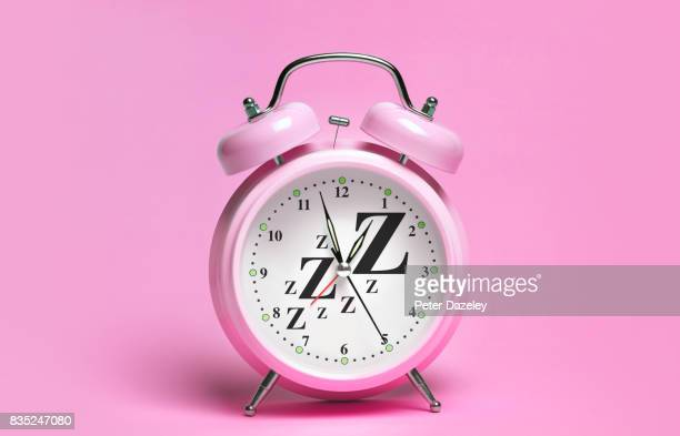 PINK ALARM CLOCK WITH ZZzzs