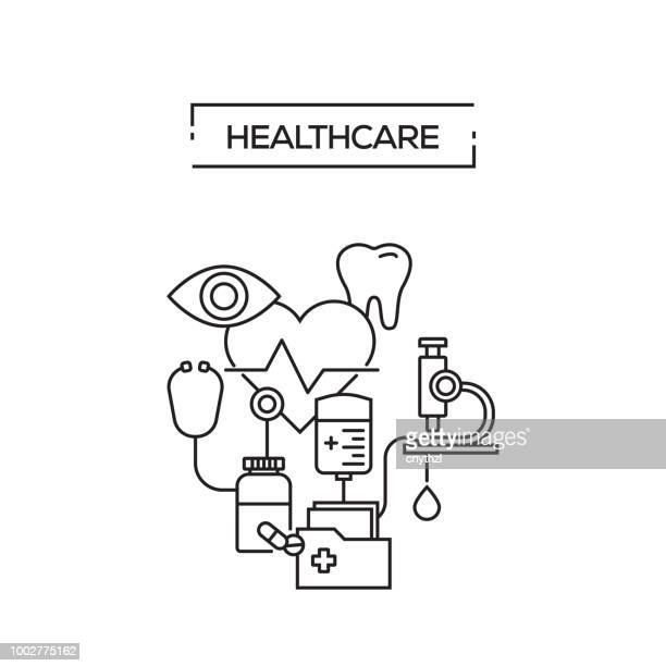HEALTHCARE CONCEPT LINE ICONS