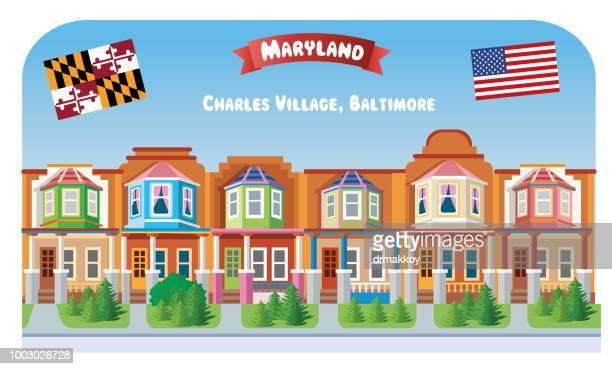 charles village, maryland - baltimore maryland stock illustrations, clip art, cartoons, & icons