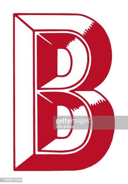 illustrazioni stock, clip art, cartoni animati e icone di tendenza di b - lettera b