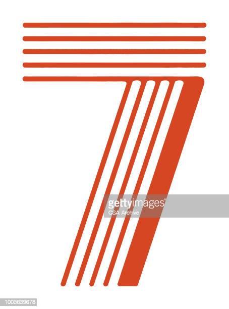 数字の 7 - 数字の7点のイラスト素材/クリップアート素材/マンガ素材/アイコン素材
