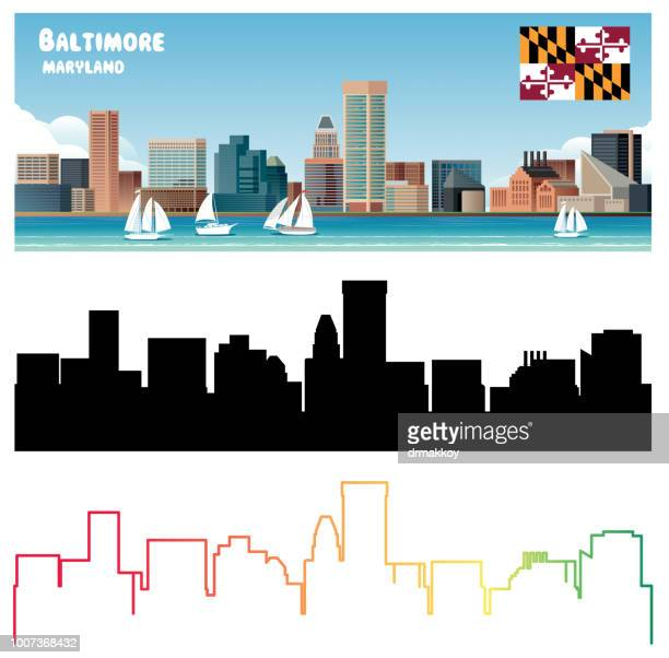 baltimore - baltimore maryland stock illustrations, clip art, cartoons, & icons