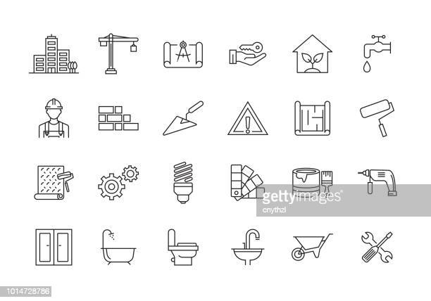 CONSTRUCTION LINE ICON SET