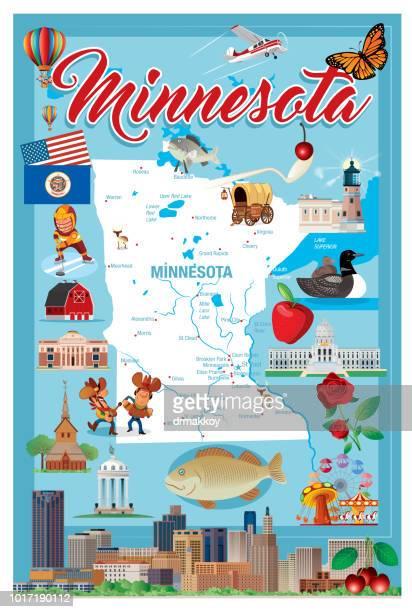 minnesota - minnesota stock illustrations