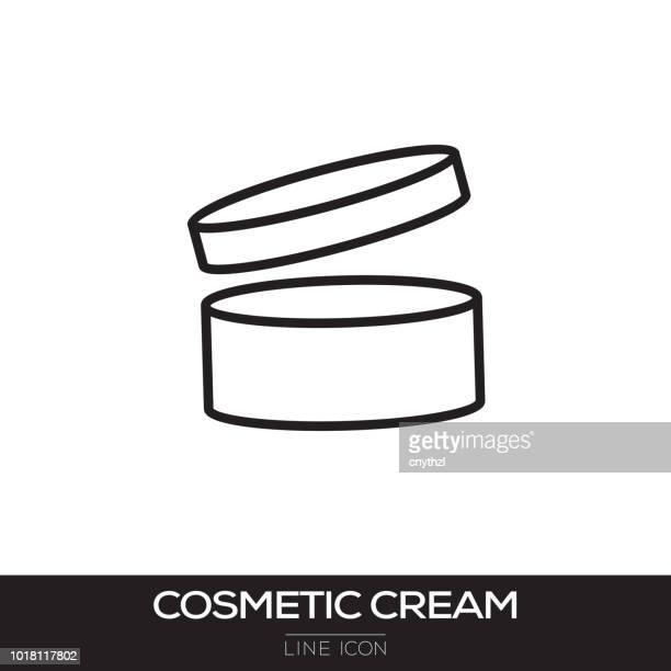 cosmetic cream line icon - egg beater stock illustrations, clip art, cartoons, & icons