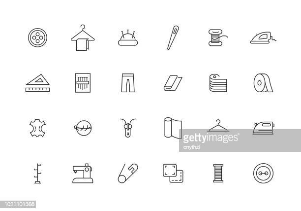 SEWING LINE ICON SET
