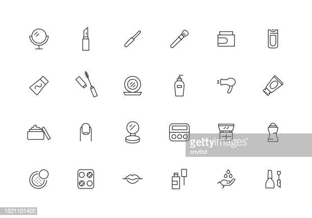 COSMETICS LINE ICON SET