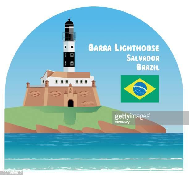 バーラ灯台 - サルバドール点のイラスト素材/クリップアート素材/マンガ素材/アイコン素材