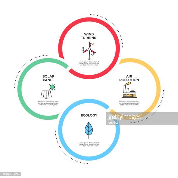 global warming concept infographic design - change stock illustrations