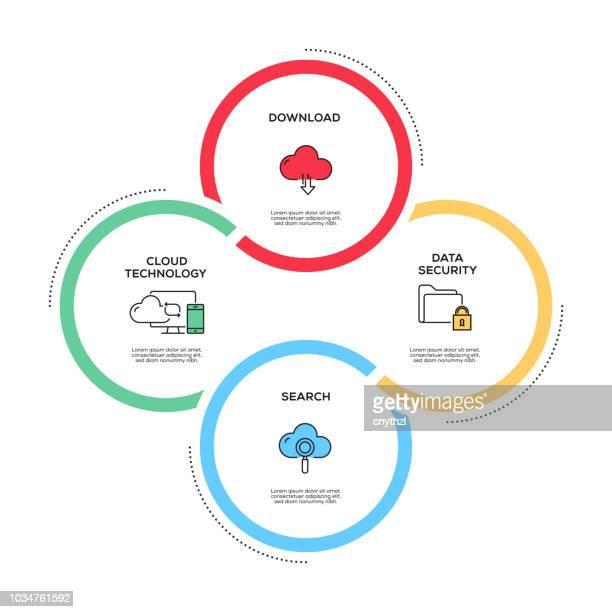 cloud hosting concept infographic design - sponsorship stock illustrations