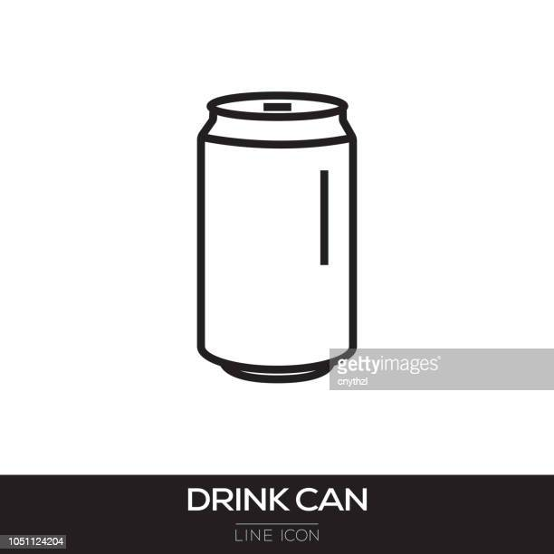 drink can line icon - can stock illustrations