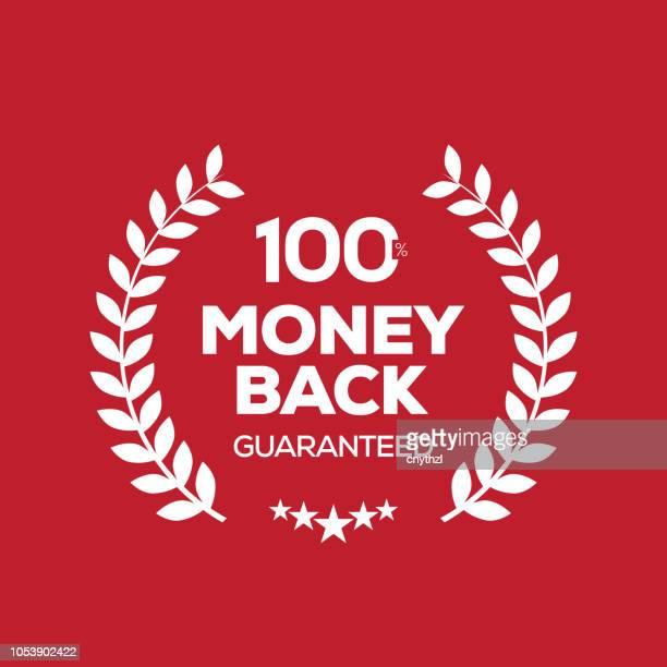 money back guarantee badge - reliability stock illustrations