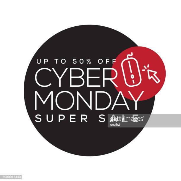ilustraciones, imágenes clip art, dibujos animados e iconos de stock de diseño de banner de venta cyber lunes - black friday