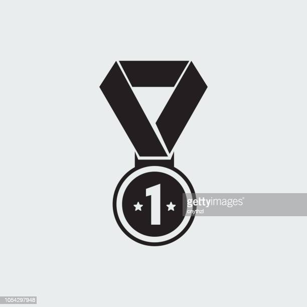 achievement icon - number 1 stock illustrations, clip art, cartoons, & icons