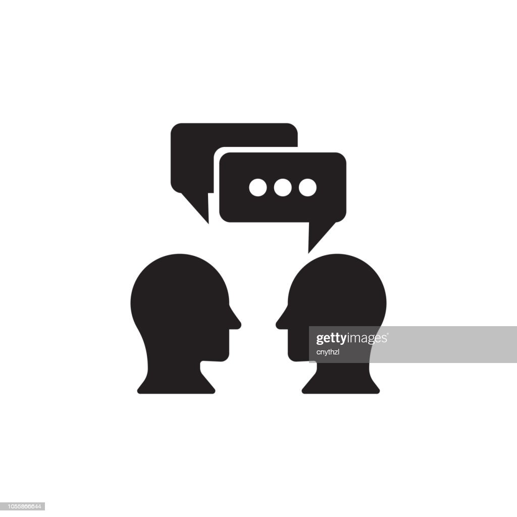 TALKING ICON : stock illustration
