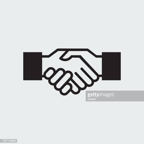 agreement icon - handshake stock illustrations, clip art, cartoons, & icons