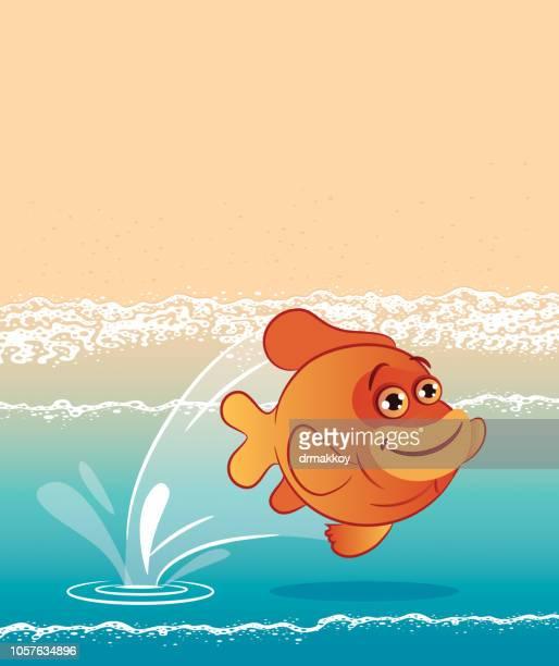 GARIBALDI FISH AND BEACH