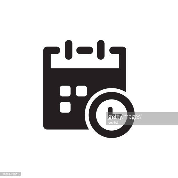 time management icon - organização stock illustrations