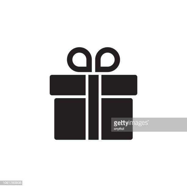 ilustraciones, imágenes clip art, dibujos animados e iconos de stock de icono de regalo - caja de regalo