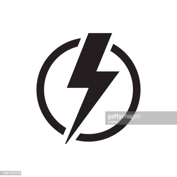 electricity icon - fuel and power generation stock illustrations