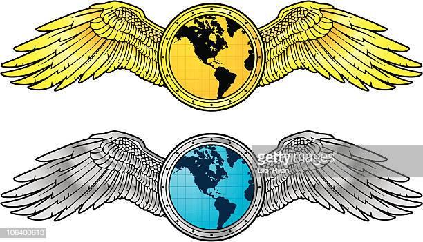 30 Top Pilot Wings Stock Illustrations, Clip art, Cartoons
