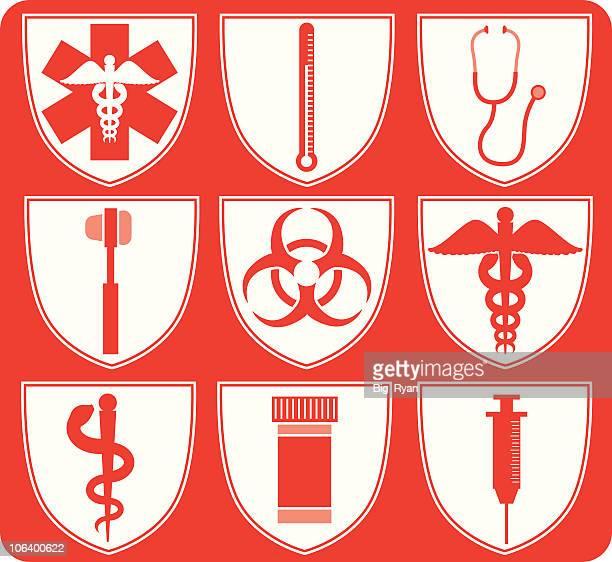 ilustraciones, imágenes clip art, dibujos animados e iconos de stock de medical conjunto de - arma biológica