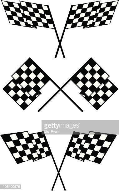 checker flags - street racing stock illustrations, clip art, cartoons, & icons