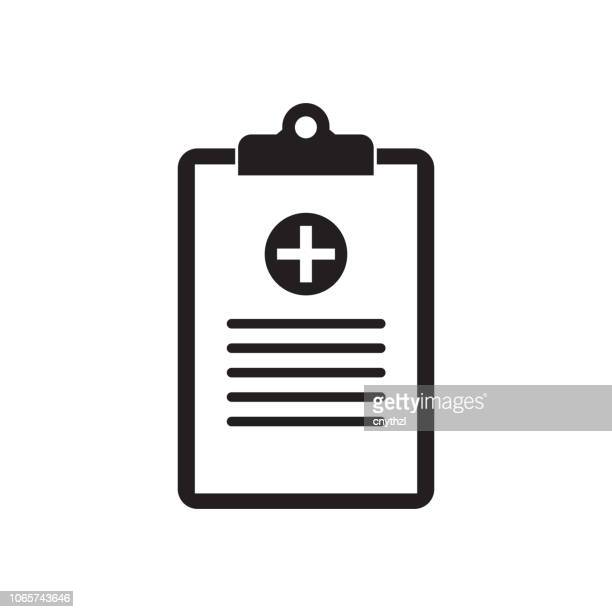 medical record icon - clipboard stock illustrations