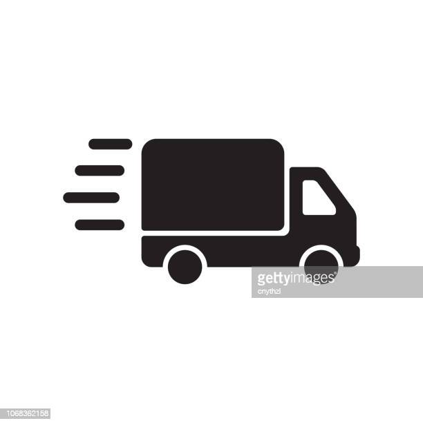 delivery icon - land vehicle stock illustrations